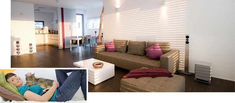 Gesundes wohnzimmer massivholztisch multimedia parkett farben - Multimedia wohnzimmer ...